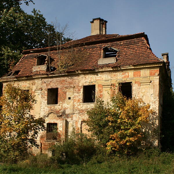 Ruiny pałacu w Parchowie