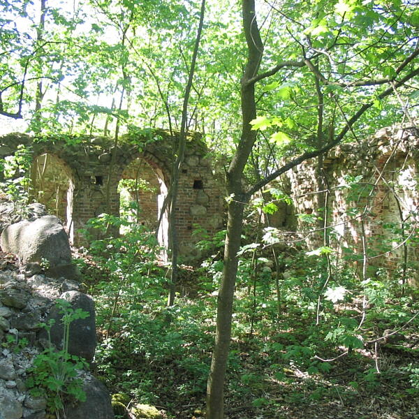 Ruiny kościoła w Garbnie